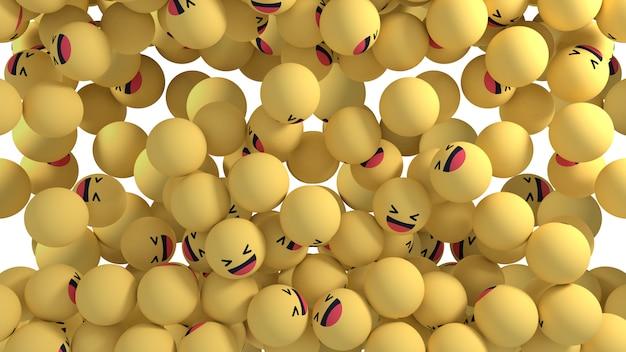 Facebook réactions emoji 3d render