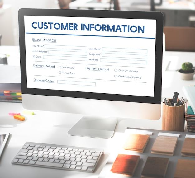 Facture facturation formulaire d'information concept graphique