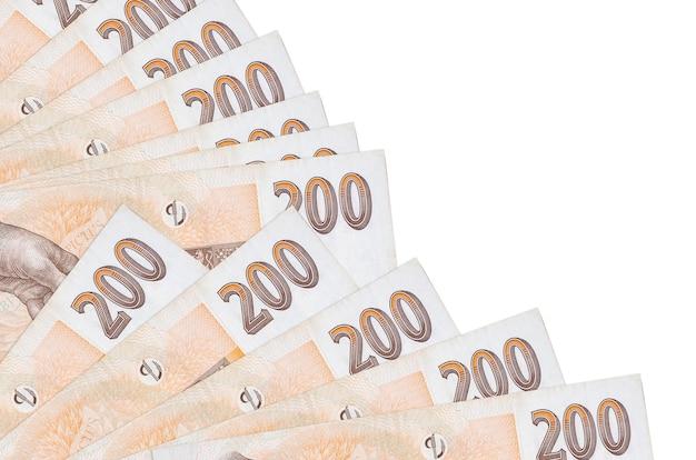 Les factures de la couronne tchèque se trouvent isolés