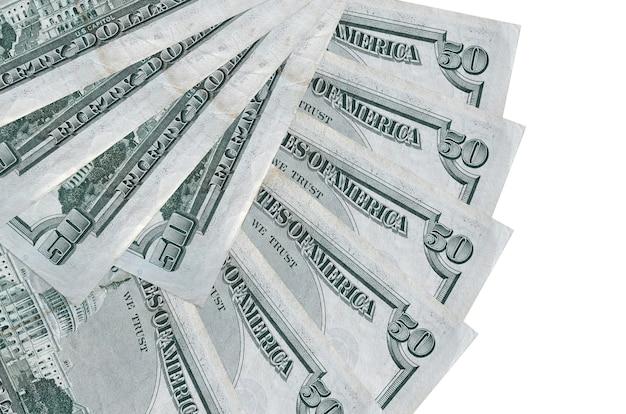 Factures de dollars américains portant sur fond de surface blanche
