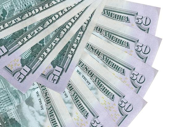 Factures de dollars américains se trouve isolé sur fond blanc