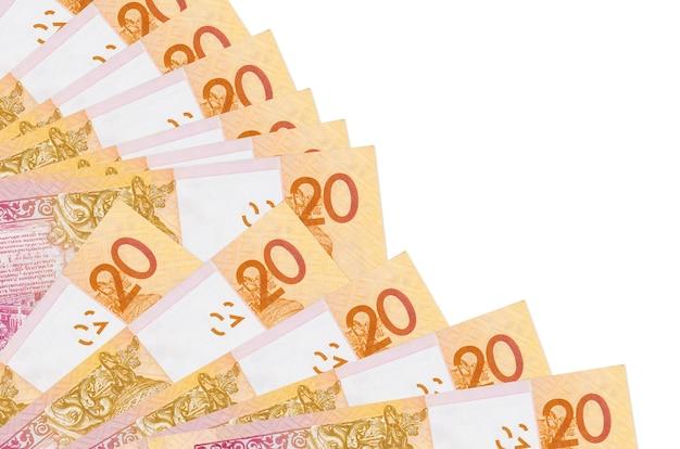 Factures de roubles biélorusses se trouve isolé sur fond blanc