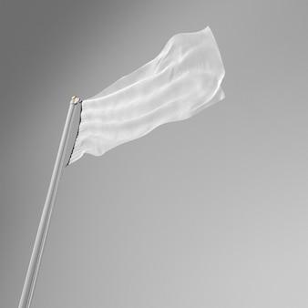 Faible angle de drapeau blanc avec espace copie