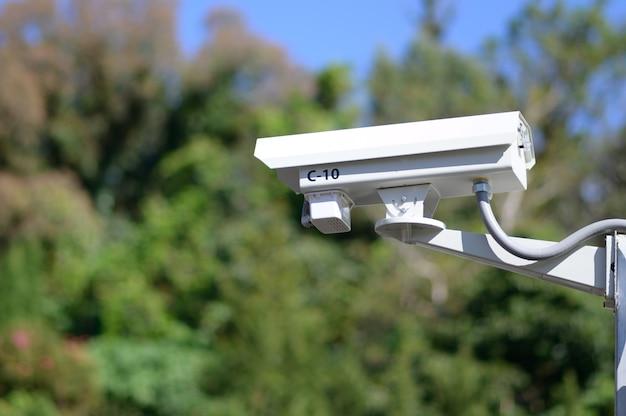 Faible angle de vue de la caméra de sécurité