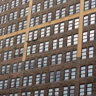 Faible angle de vue d'un immeuble, chelsea, manhattan, new york, état de new york, états-unis