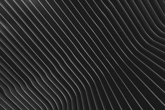 Faible angle de vue d'un plafond rayé noir et blanc
