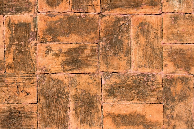 Faïence de brique comme fond de texture