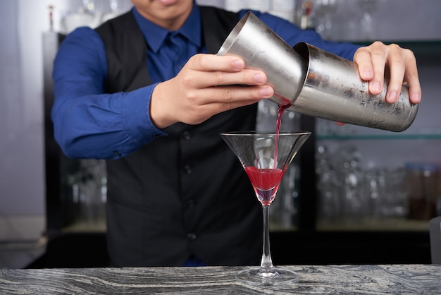 Faire un cocktail