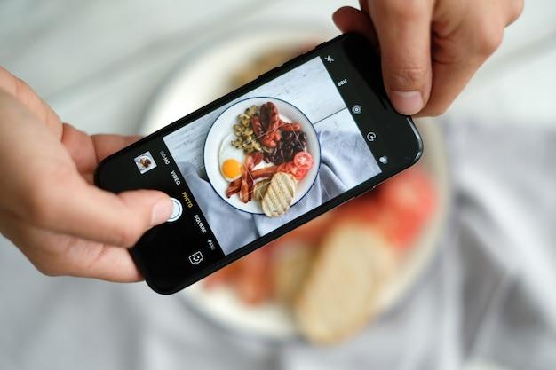 Faire une photo du petit-déjeuner anglais