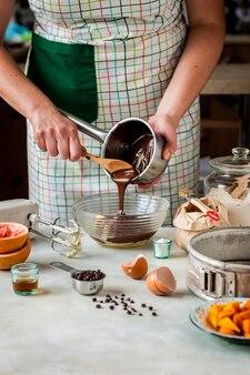 Faire une tarte au potiron au chocolat