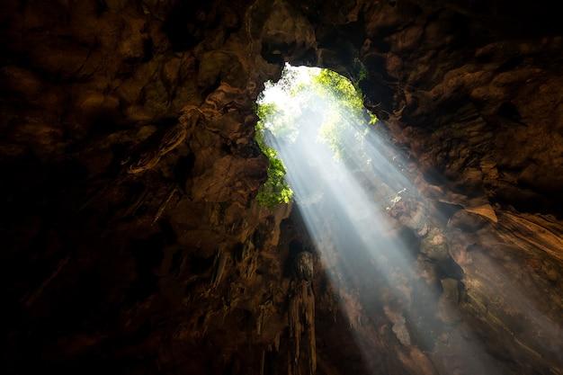 Faisceau de la cale de la grotte