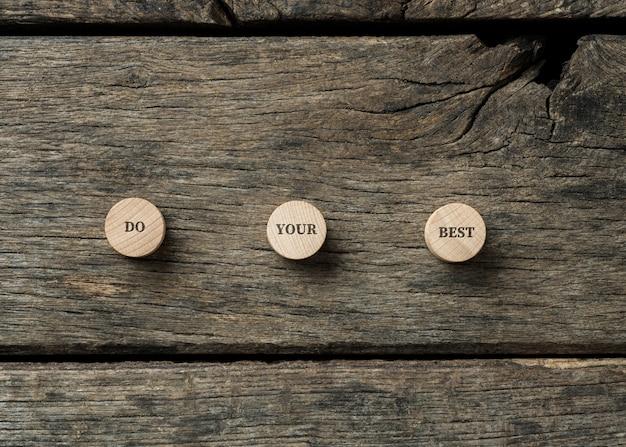 Faites votre meilleur message de motivation