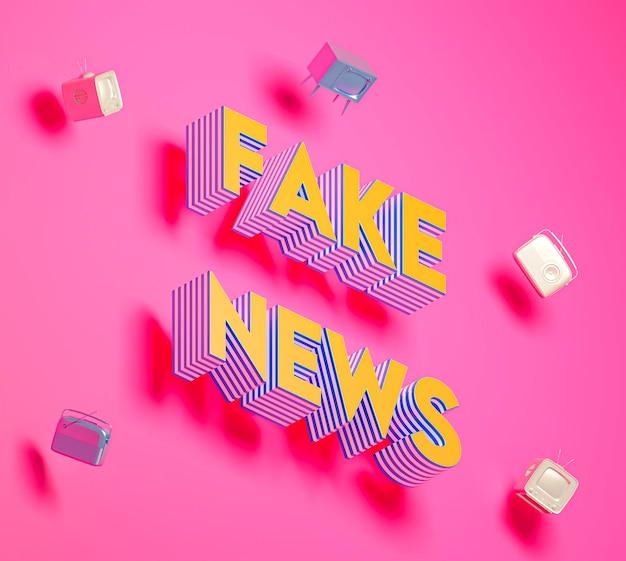 Fake news avec des cubes brillants