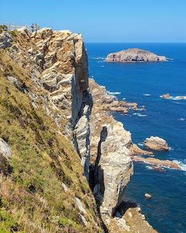 Falaises de cabo de peña dans les asturies