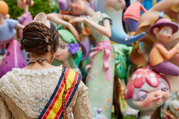 Fallas fest figures populaires