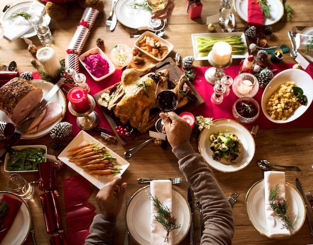 Family together concept de célébration de noël