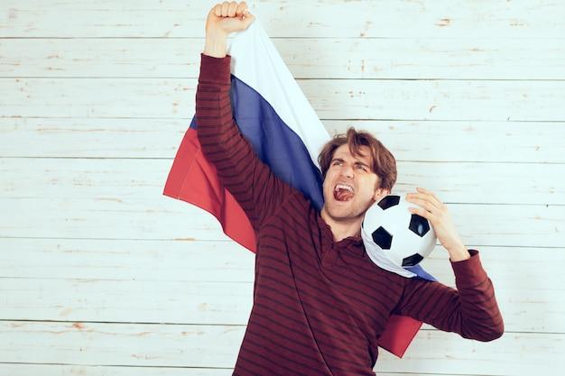 Fan de football de la russie