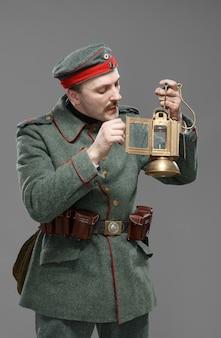 Fantassin allemand pendant la première guerre mondiale.