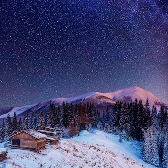 Fantastique pluie de météores d'hiver