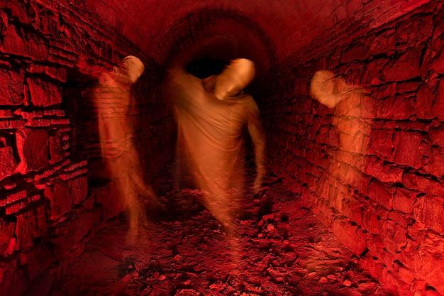 Fantôme pris au piège dans le tunnel