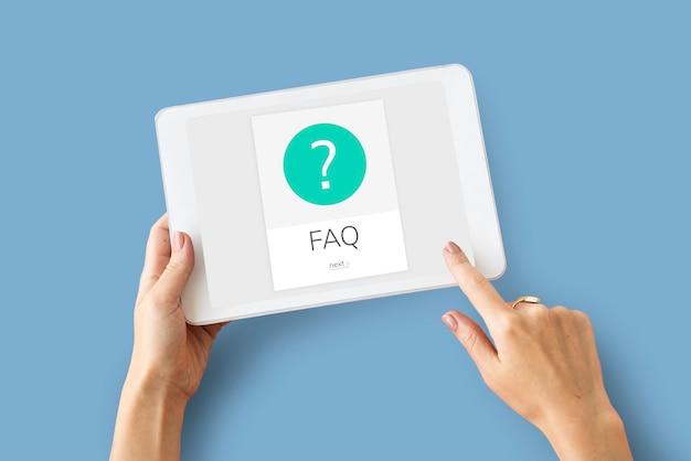 Faq service client aide support graphique d'exclamation