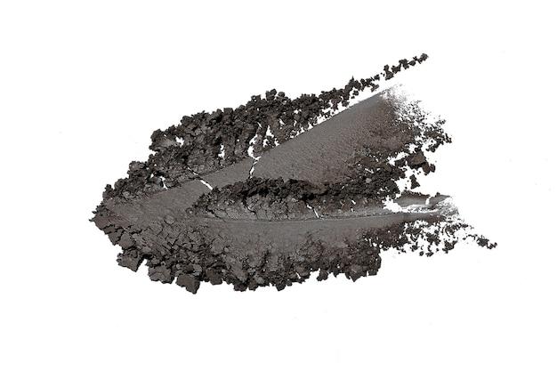 Fard à paupières écrasé isolated on white