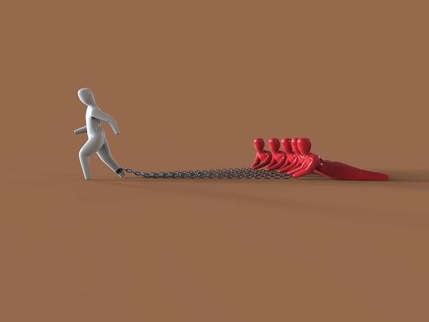 Fardeau - illustration 3d