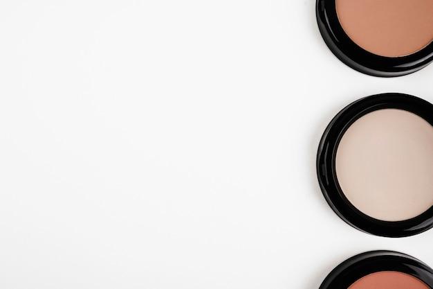 Fards à paupières vue de dessus pour le maquillage