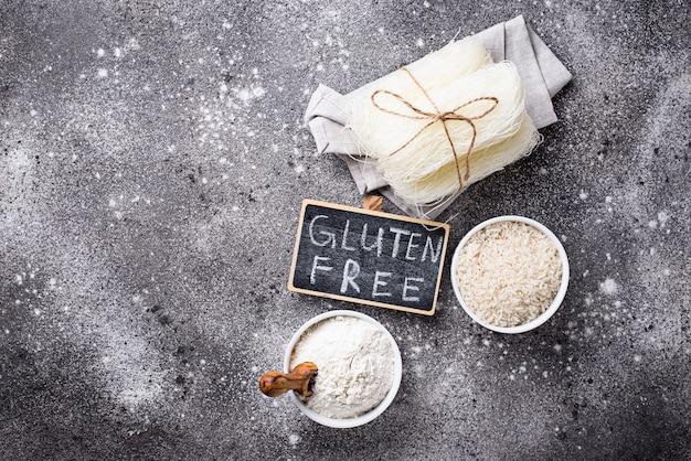 Farine de riz, céréales et nouilles sans gluten