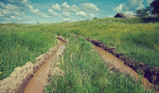 Farmer's road.kenozerye.région d'arkhangelsk, russie