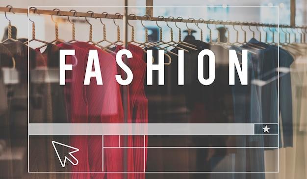 Fashion collection design shopping mots graphiques