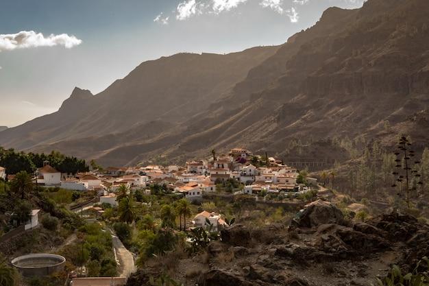Fataga, un village de montagne à gran canaria, îles canaries, espagne