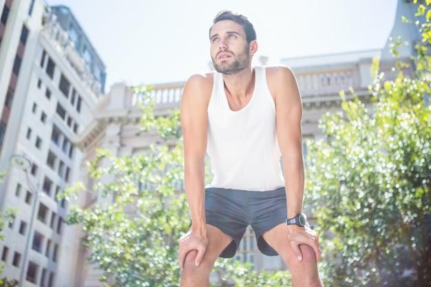 Fatigué beau repos athlétique