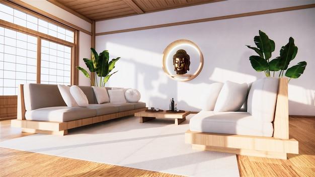 Le fauteuil sur la chambre japon et le fond blanc offre une fenêtre d'édition.