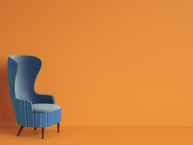 Fauteuil classique de couleur bleue avec espace copie