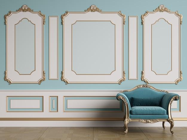 Fauteuil classique dans un intérieur classique
