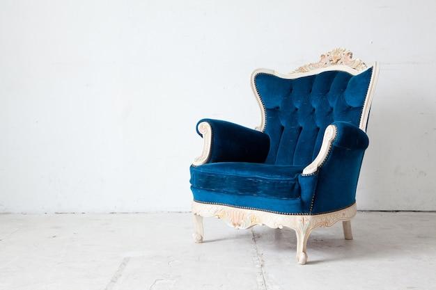 Fauteuil retro bleu