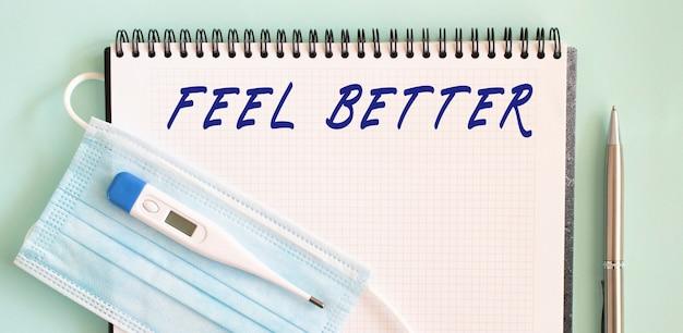 Feel mieux texte dans un cahier