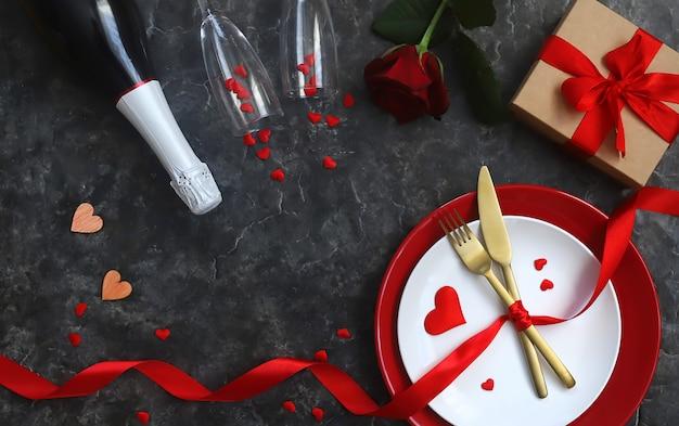 Félicitations pour le dîner romantique de la saint-valentin.