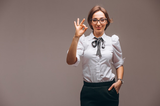 Femme d'affaires avec des émotions isolées