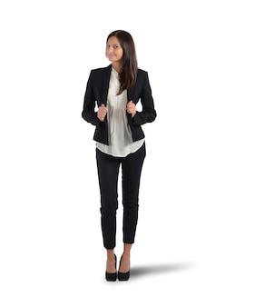 Femme d'affaires positive satisfaite de sa place dans l'entreprise