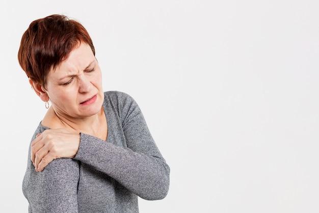 Femme aînée, à, problèmes médicaux