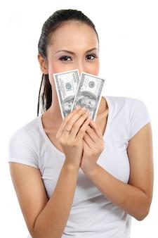 Femme, argent