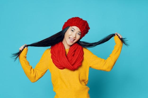 Femme asiatique, poser, modèle