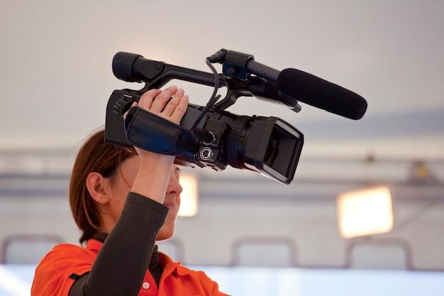 Femme caméra