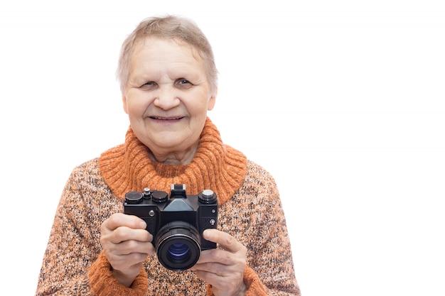 Femme avec camera
