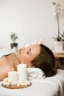 Femme, centre spa