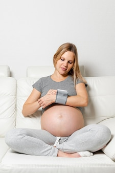 Femme enceinte, utilisation, a, dispositif médical