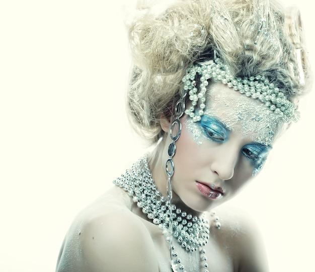 Femme de fées de noël hiver.
