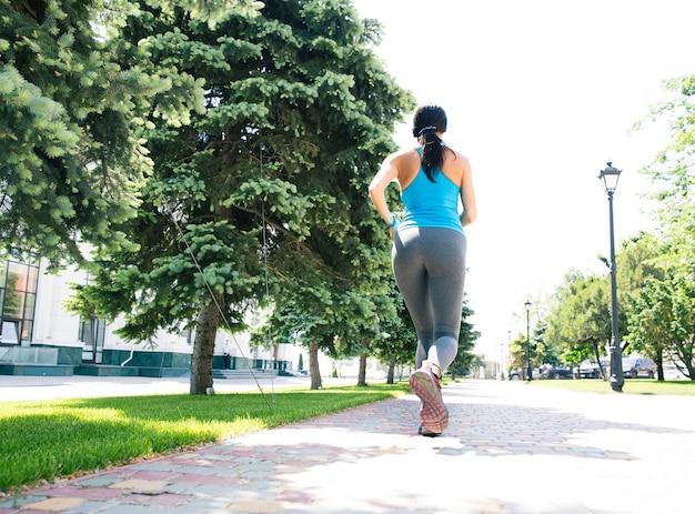 Femme Fitness, Courant, Dehors Photo Premium